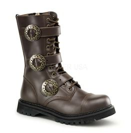 Lumber Jack Brown Steampunk Calf Boots