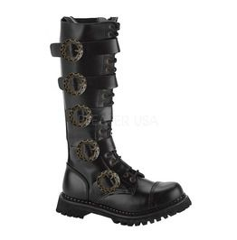 Belt Strap Black Steampunk Boots
