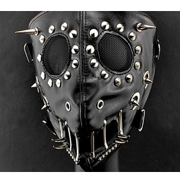 f6d4ab59d37999 Dark Forest Spike Imitation Leather Unisex Mask Mens Womens Accessori