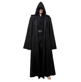 Gothic Medieval Hooded Robe Cloak Cape Halloween Costume