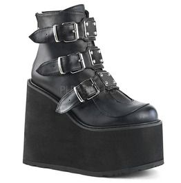 """5 1/2"""" Pf Ankle Boot W/ 3 Buckle Straps, Back Zip"""