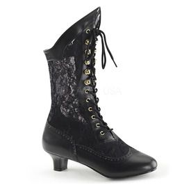 Black Lace Victorian Ankle Boot, Pioneer
