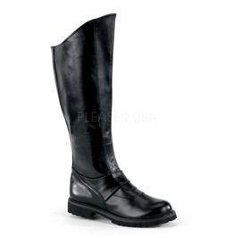 "1 1/2"" Vadar, Villian Men's Knee Boot W/ Inner Zipper"