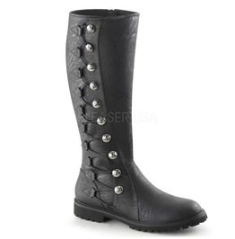 Men's Knee High Boot W/ Button Lace Up, Zip