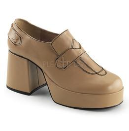"3 1/2"" Block Heel, 1 1/2"" Pf Men's Loafer"