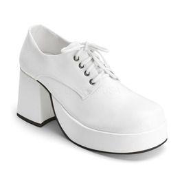Bolero White Platform Heel Disco Shoes For Men