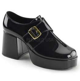 "3 1/2"" Block Heel, 1 1/2"" Pf Monk Strap Men's Loafer"