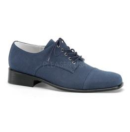 """1"""" Men's Blue Faux Suede Shoes, Elvis, Retro, Rock A Billy"""