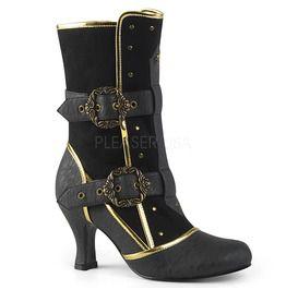 "3"" Heel Round Toe Ankle Boot, Side Zip"