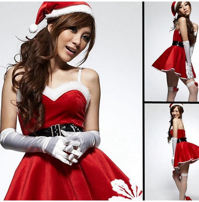 distinctive design various colors exceptional range of colors Dark Forest Christmas Costumes Dress Santa Claus Costume Womens Dress