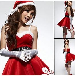 Dark Forest Christmas Costumes Dress Santa Claus Costume Womens Dress