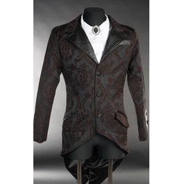 Men's Victorian Gothic Gentleman's Black Brown Steampunk Tailcoat Jacket