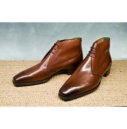 Rebelsmarket handmade men brown chukka leather boots men ankle boots men leather boots dress shoes 5