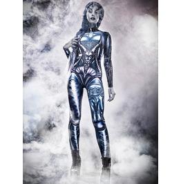 Rebelsmarket tiberio dark side badinka alien queen hr giger skeleton costume bodysuit costumes 8