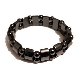 Magnetic Force Hematite Gemstone Bead Elasticated Bracelet