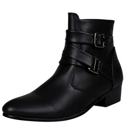 Burlesque Minimalist Preppy Pointed Toe British Style Ankle Motorcycle Boots