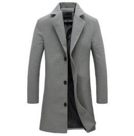 Slim Fit Office Suit Jacket Trench Coat