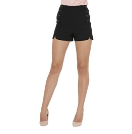 Tanya Scalloped Button Front Shorts