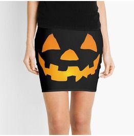 Jack O Lantern Mini Skirt Bodycon
