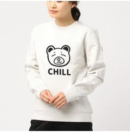 Unisex White Sweatshirt Kuma Emo Pastel