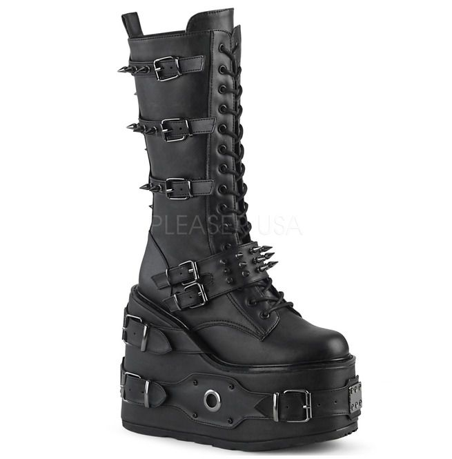 Robo Warrior Knee High Boots | Demonia
