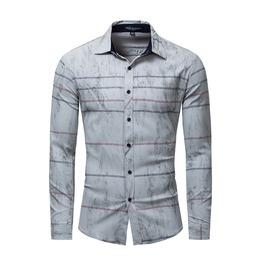 Rebelsmarket mens contrast stripe slim fitted long sleeve shirt shirts 6
