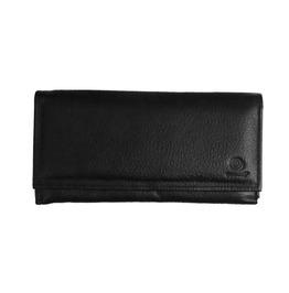 Gamuzzi Women's Tri Fold Black Clutch Leather Wallet 9 V