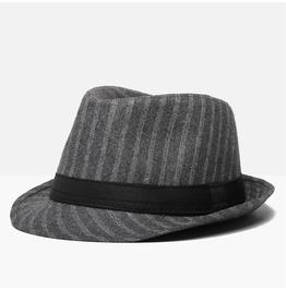 Men's Retro Stripe Short Brim Jazz Panama Cap