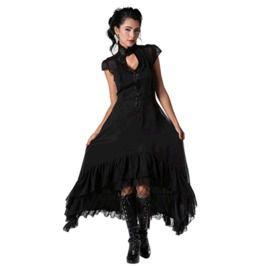 Romantic Flowing Chiffon High Low Dress