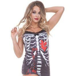 Sale Skeleton Heart Cami