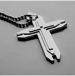Unique Crucifix Cross Design Stainless Steel Titanium Pendant With Crystal