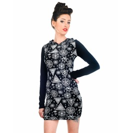 Occult Hooded Tunic Dress