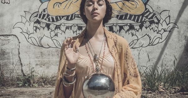 Tarot card fashion inspired by medieval enchantment and the gypsy goddess