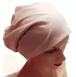 Smooth Light Grey Beigh Thin Lightweight Cotton Fabric Beanie Hat