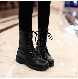 2399d46087e Dark Forest Gothic Lace Up Punk Motorcycle Military Boots Womens Shoes