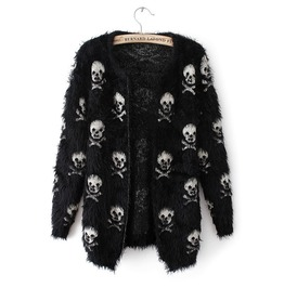 Dark Forest Skull Print Harajuku Sweater Womens Outerwear
