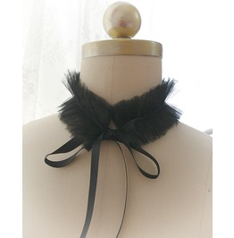 Lingerie Collar , Kitten Play Collar Costume Choker Necklace Black Tulle