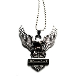 Cool Wings Golden Eagle Love Necklace Titanium Stanless Embossed Pendant
