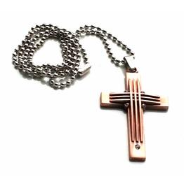Unique Crucifix Cross Design Titanium Stainless Steel Titanium Pendant