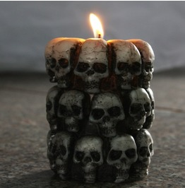 Multi Human Skull Candle Tricky Halloween Home Decorations