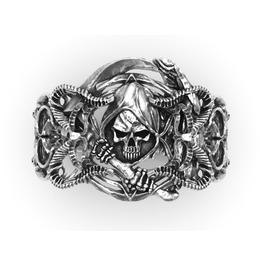 Grim Reaper Sterling Silver Ring