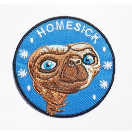 Homesick Alien Embroidered Iron On Patch.