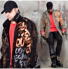 Scribble Painting Field Jacket 342