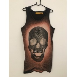 Skull Goth Pop Rock Indie Long T Shirt Dress