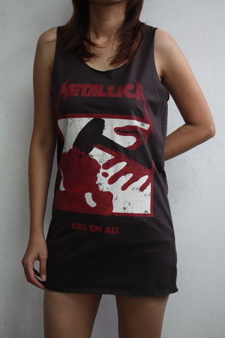 kill em all metal tunic top