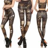 Rebelsmarket steampunk mechanical gear cosplay design high waist leggings women leggings 6