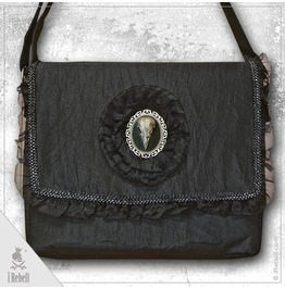 """Dark Raven"" Gothic/Fantasy Style Shoulder Bag With Raven Cameo"