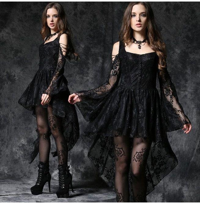 2203f2370c22 Black Ghost Dovetail Lace Dress   RebelsMarket