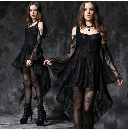 Black Ghost Dovetail Lace Dress