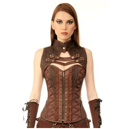 251e1dae9a Coralee Steampunk Authentic Steel Boned Overbust Corset